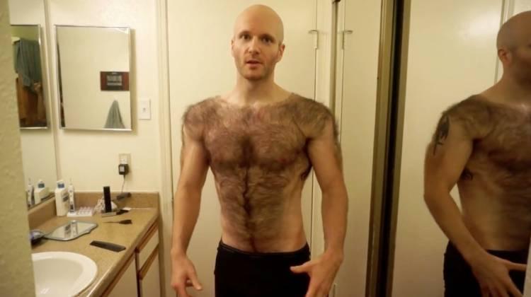 Hairy muscle guy