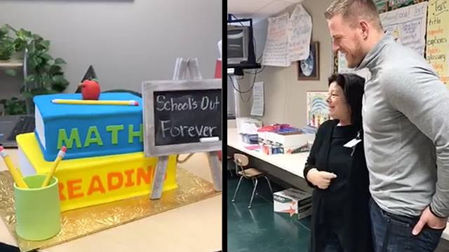 Jj Watt Surprises Fourth Grade Teacher For Her Retirement Rtm