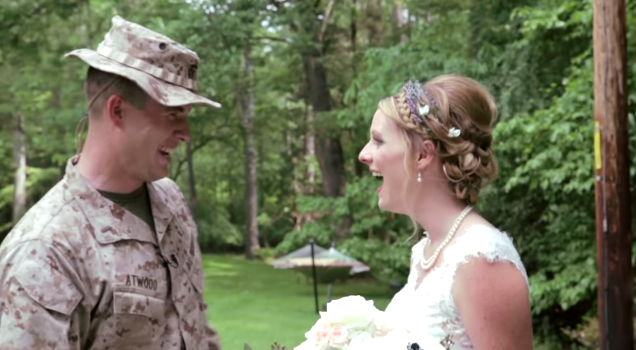 Beautiful Bride Receives an Amazing Surprise From Her Active