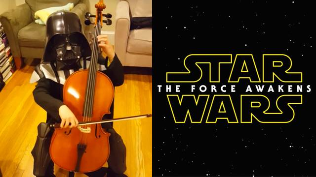 grade school darth vader nails star wars theme on cello rtm
