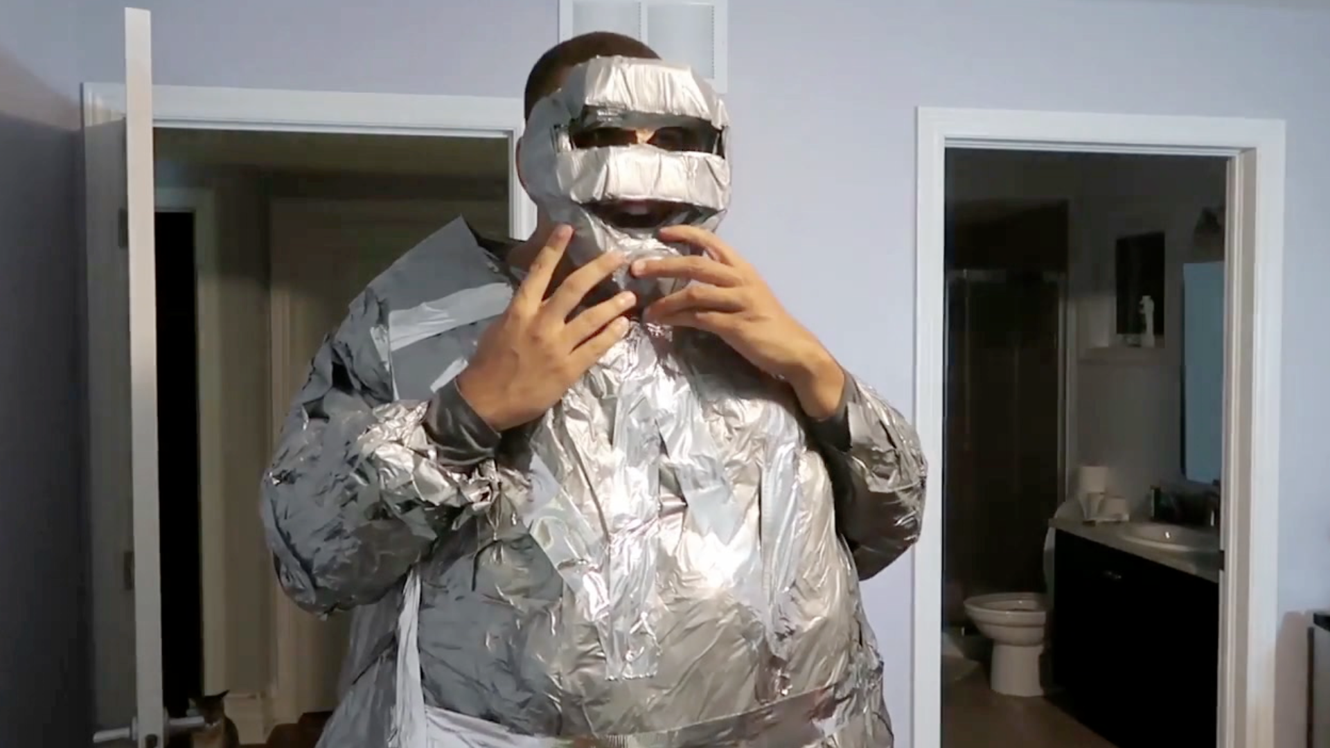 100 Rolls Of Duct Tape Later Rtm Rightthisminute