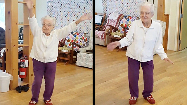 101-Year-Old Has Time Of Her Life Dancing To Elvis | RTM ...