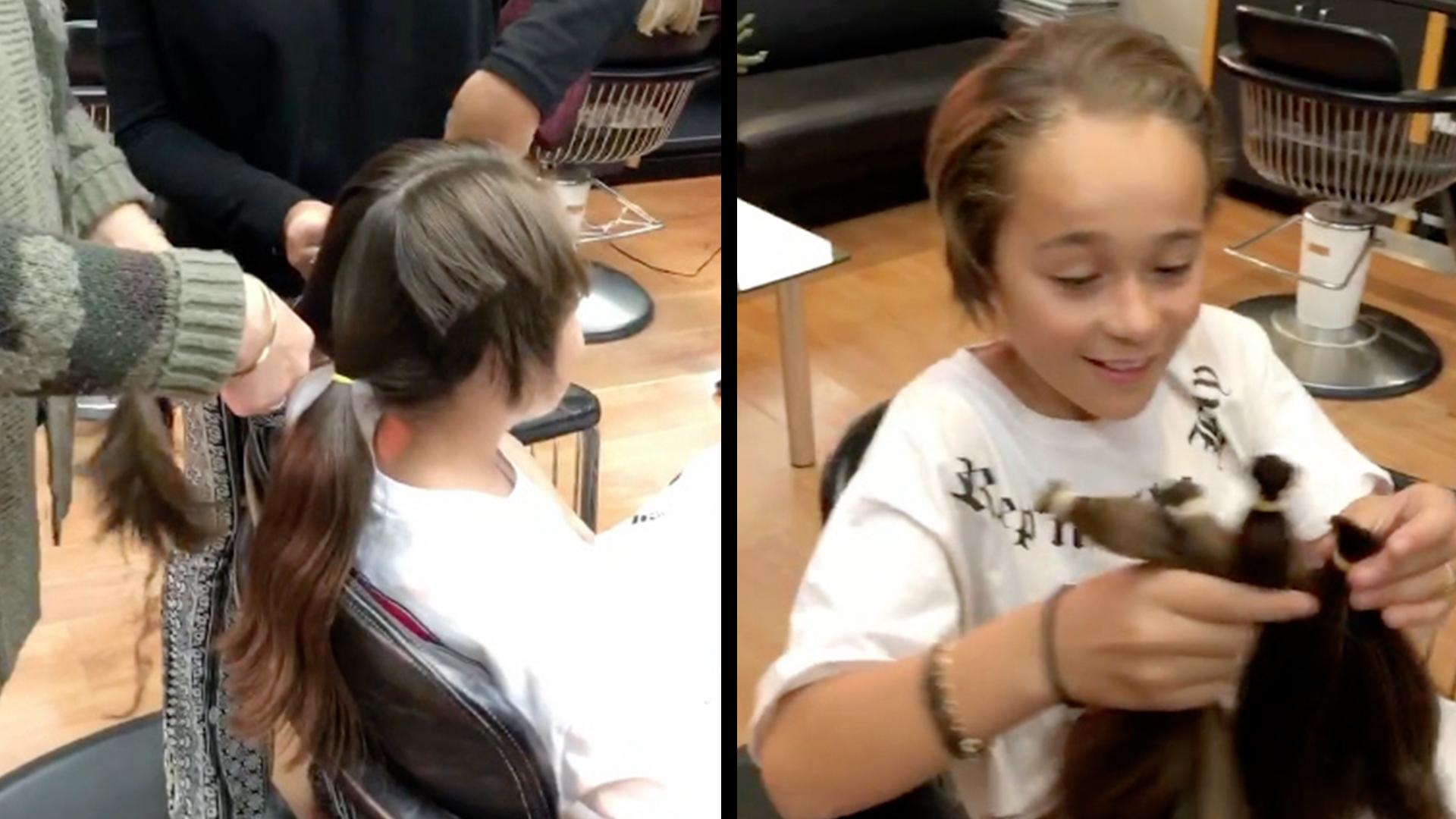 AJ Stuntz Cuts His Long Hair For 'Locks Of Love'