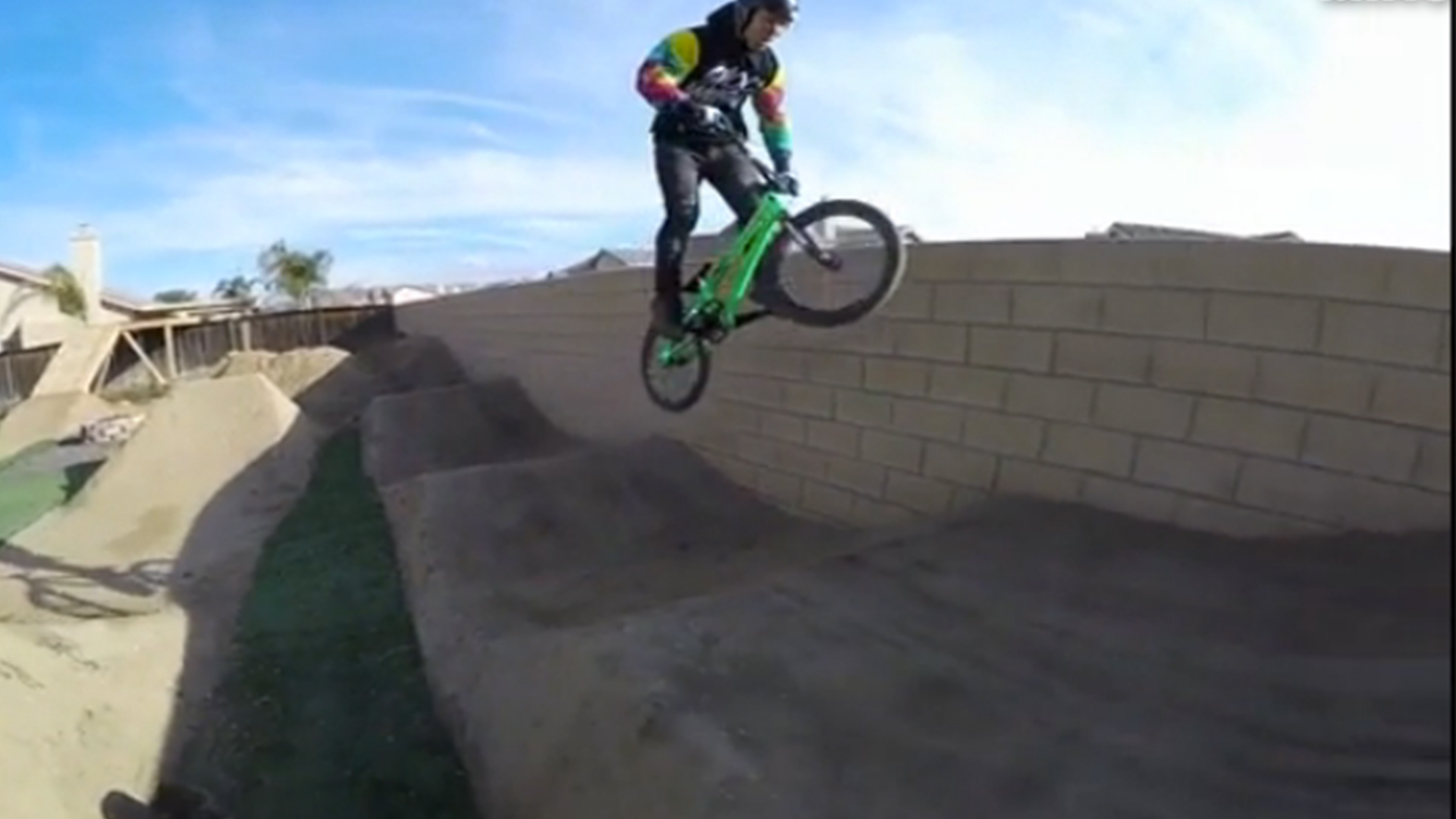 bmx pro barry nobles turns backyard into his own personal practice