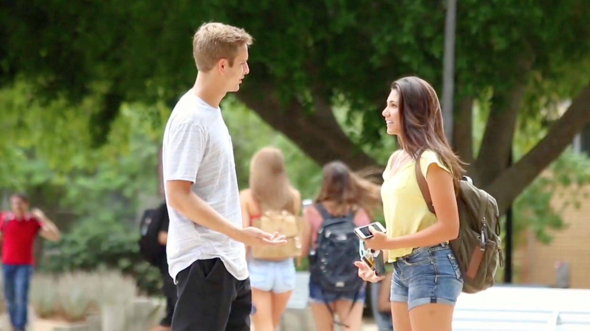 Cute Guy Has The Simplest Pick-Up Line Ever  Rtm -8766