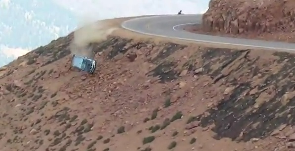 Watch This Racecar Fly off the Road and Tumble Down a ...