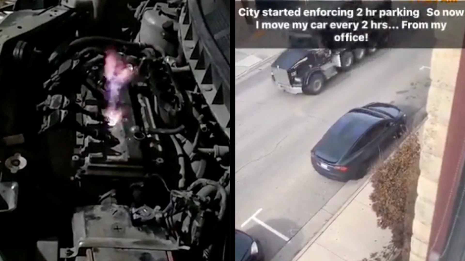 Should The Engine Be Shooting Fire? & Parking Hack Avoids Fine