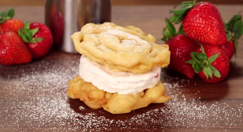 Funnel Cake Ice Cream Sandwich Video