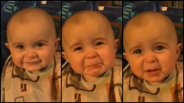 VIDEO: Baby becomes emotional as mommy sings to her