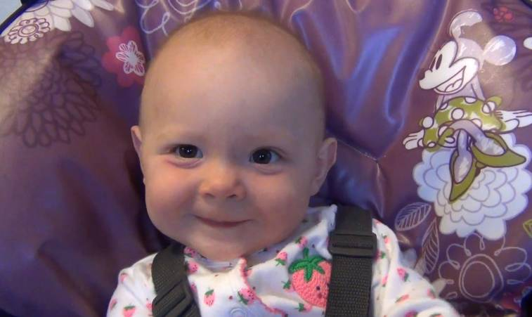 cute baby girl fake sneezes after you say bless you rtm