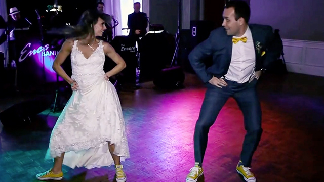 Newlyweds Surprise Guests With Outrageously Fun First Dance