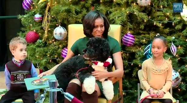 Bo Nabs Best Seat for First Lady's 'Twas the Night ...