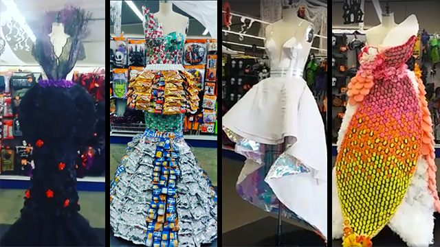 Astonishing haute couture from a dollar store rtm for Haute couture shop