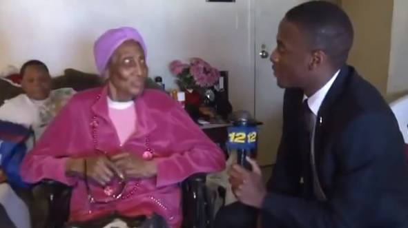Horny Granny Asks Reporter How Ya Dck Hanging  Rtm -3799