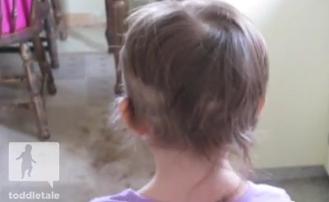 Toddler Cuts Her Own Hair So It Doesnt Bother Her Again