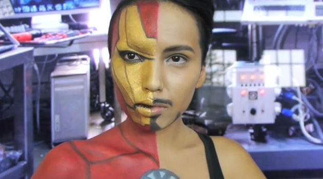 one part iron man one part tony stark in this makeup how to rtm