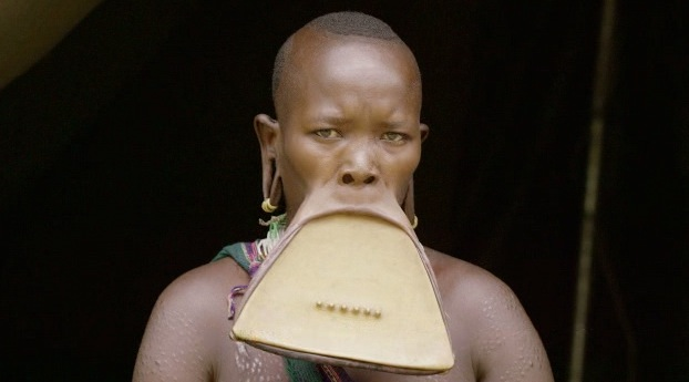 Ethiopian Woman Gets Massive Lip Piercing To Attract A