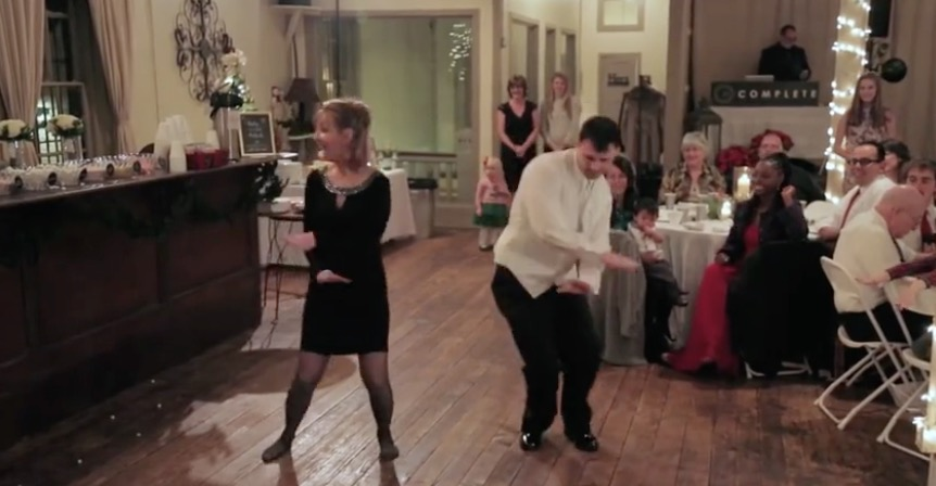 Mother And Son Surprise Wedding Guests With Awesome Dance Routine Rtm Rightthisminute