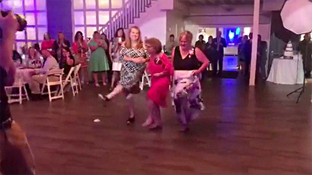 Mom Aunt And Grandma Wedding Dance Takeover