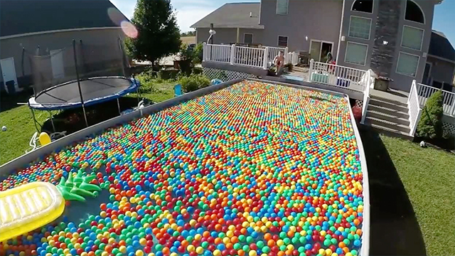 Ball pit pool jump in rtm rightthisminute - Get a swimming pool full of liquor ...