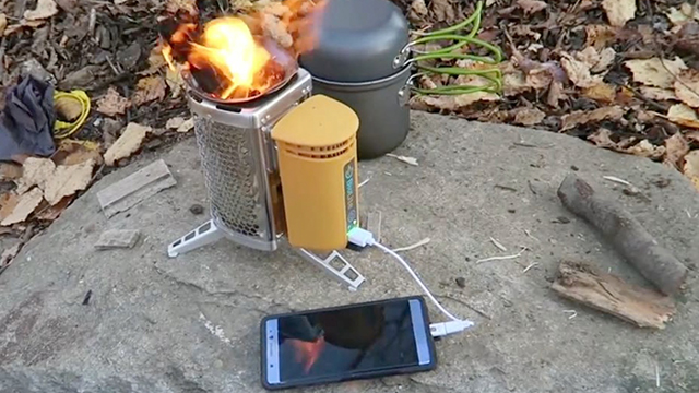 Survival Device Uses Fire To Power Your Phone Rtm
