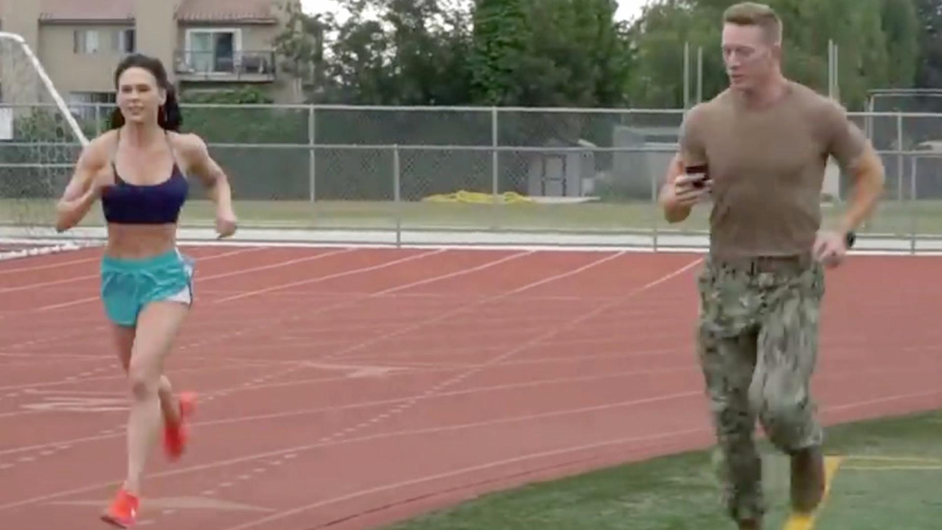 Ms  Bikini Olympia Takes On US Navy Physical Test | RTM
