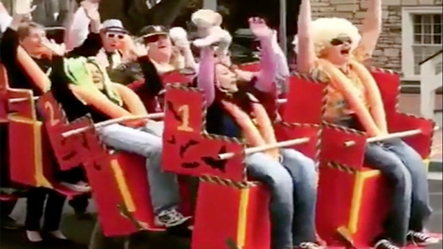 Clever Friends Bring Roller Coaster Screams To Halloween