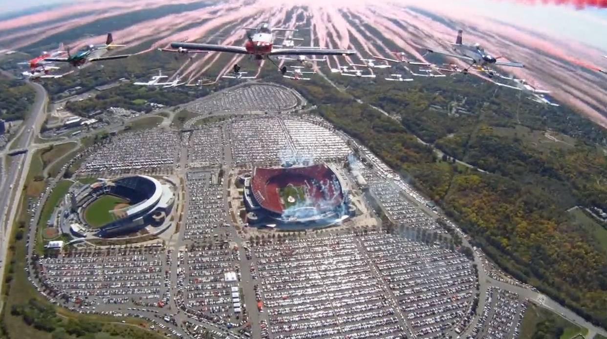 Amazing Arrowhead Stadium Flyover Raises Money for Breast Cancer ...
