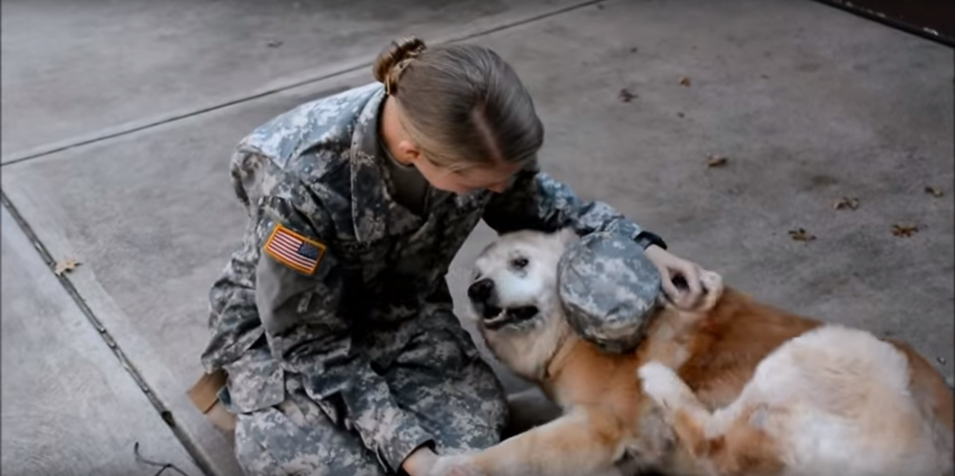 Watch The Sweet Moment A Soldier Is Reunited With Her Dog