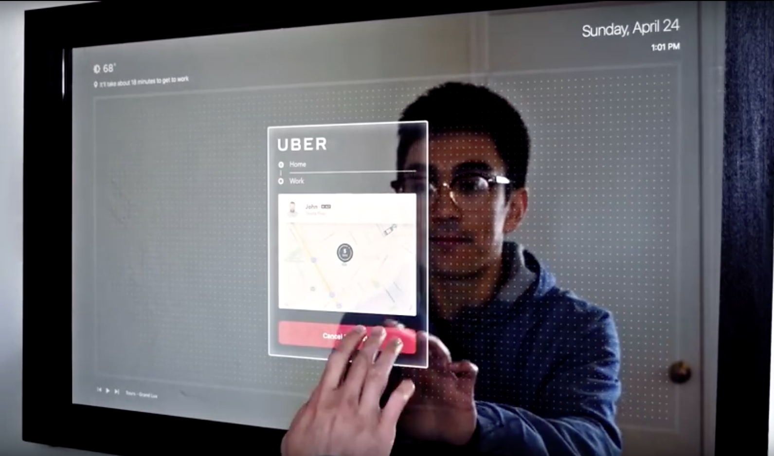 Call Uber Driver >> Touchscreen Mirror Is Like A Tablet With Your Reflection | RTM - RightThisMinute