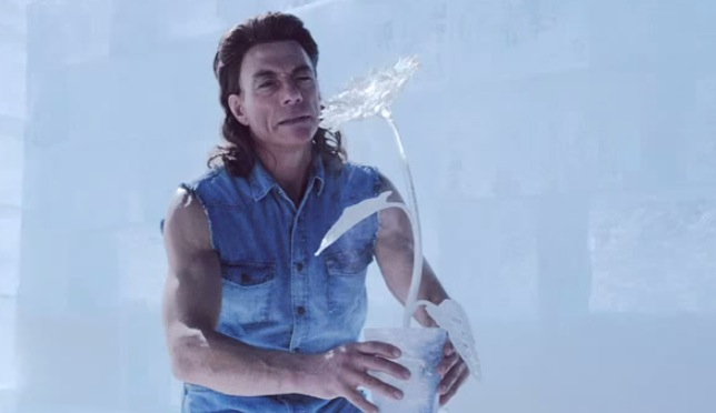 Jean claude van damme builds amazing ice bar with his bare hands in jean claude van damme builds amazing ice bar with his bare hands in coors light ad rtm rightthisminute mozeypictures Images
