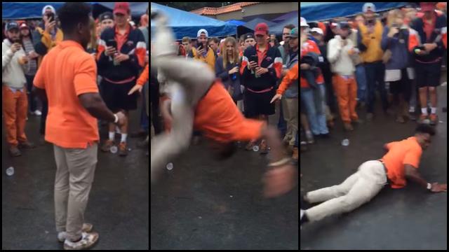 Clemson Football Fan Flips Out Eats Pavement Rtm