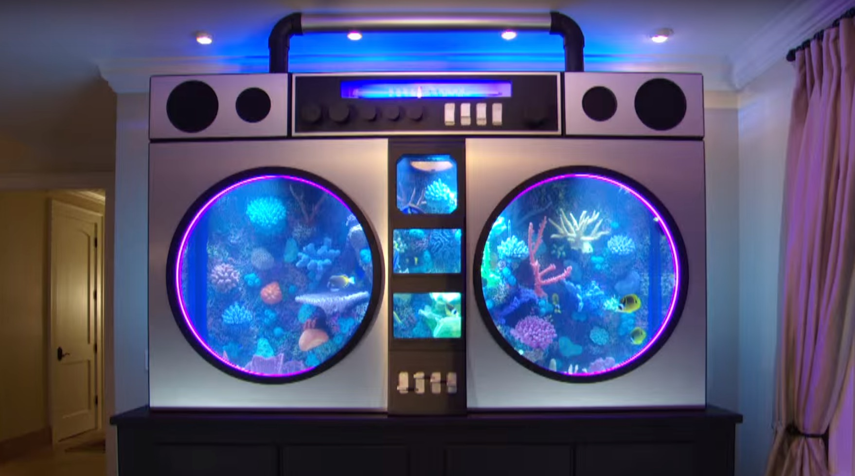 Chicago Bulls Player Gets Boom Box Aquarium Installed in Home | RTM - RightThisMinute