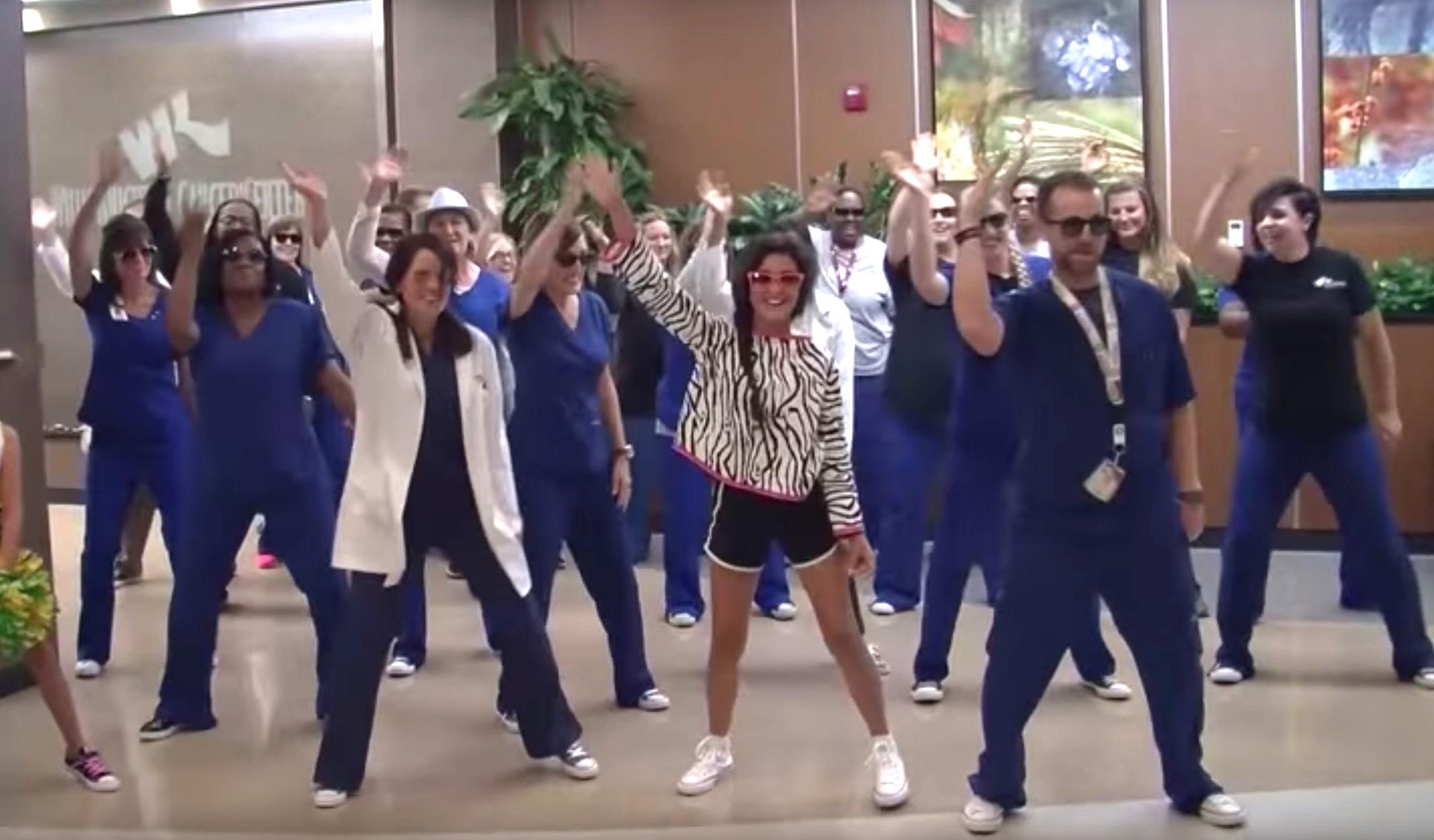 Girl Medical Staff Dance To Whip Nae Nae To Celebrate