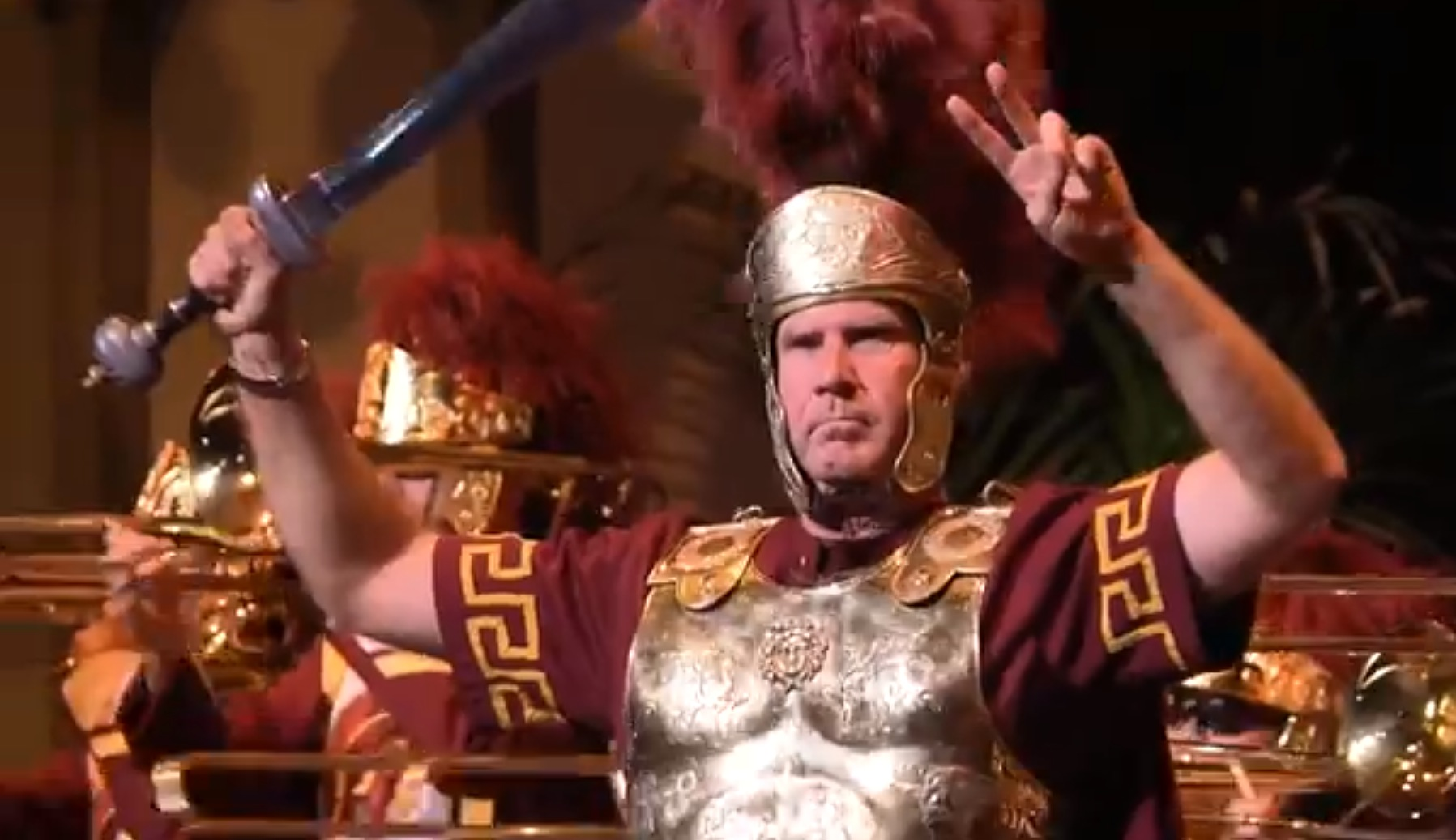 Will Ferrell Hilariously Leads Usc Marching Band Rtm