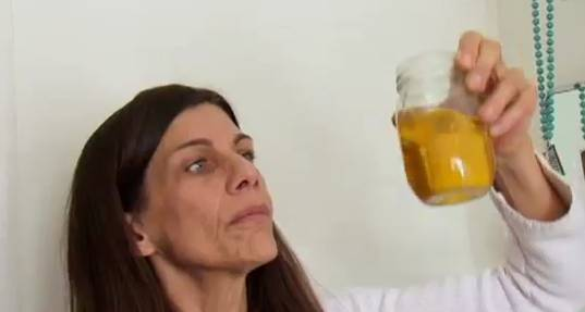Drink girl own pic piss